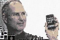 Charis Tsevis's icon montage of Steve Jobs