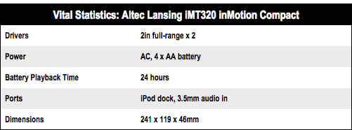 Altec Lansing inMotion Compact