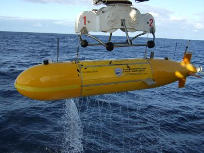 The Autosub 6000 robot submarine. Credit: NOC