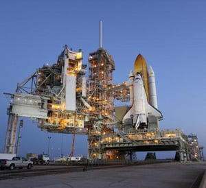 Discovery on the launchpad at Kennedy Space Center. Pic: NASA