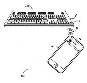 NFC iPhone and keyboard