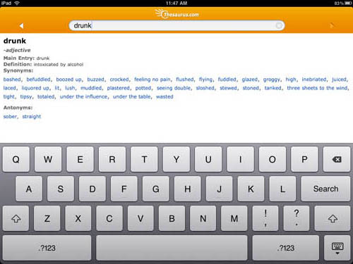 Dictionary.com iPad app
