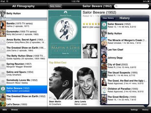 iMDB iPad app