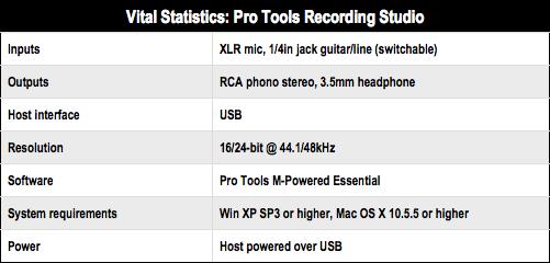 M-Audio Pro Tools Recording Studio • The Register