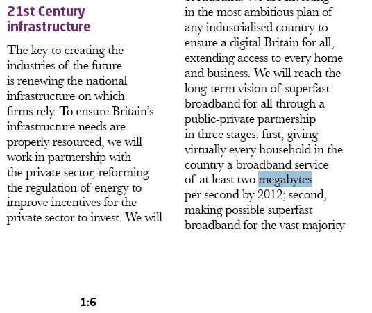 Labour's 16.8 meg broadband pledge.