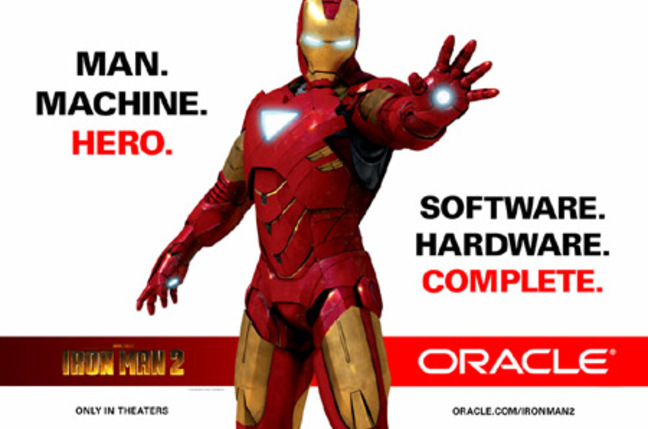 Oracle's Iron Man 2 ad