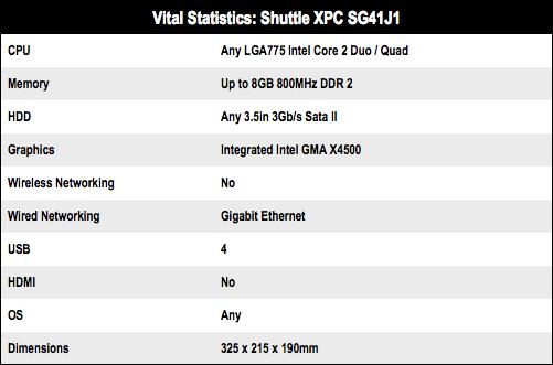 Shuttle XPC SG41J1