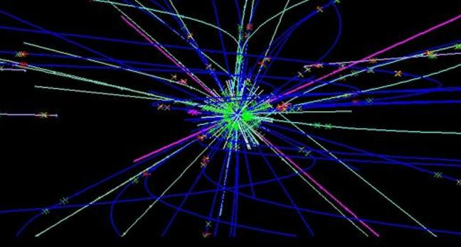 LHCb Beauty particle collision graphics. Credit: CERN