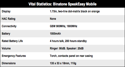 Binatone SpeakEasy Mobile