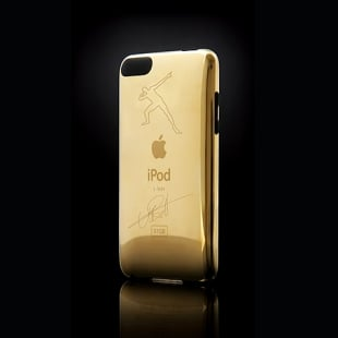 Back of gold plated ipod touch