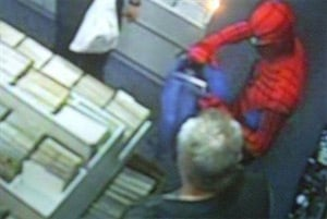 CCTV image of the Spider-Man bust