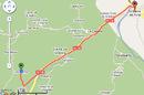 The GPS tracker plot imposed on Google Map