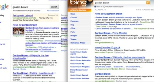 Google search goes Bing-like