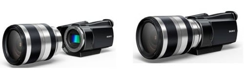 Sony interchangeable-lens camcorder