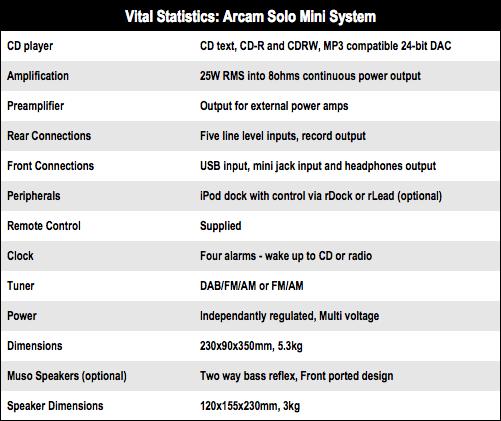 Arcam Solo Mini System