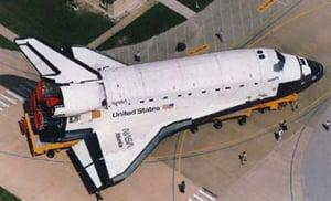 Space shuttle Atlantis. Pic: NASA