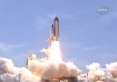 The Atlantis launch. Pic: NASA