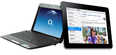 Free laptop beside an iPad