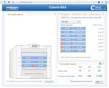 EMC Capacity Calculator