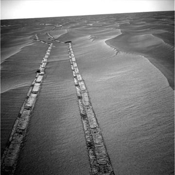 Opportunity image taken on 8 May. Pic: NASA