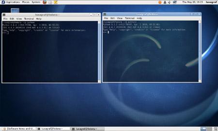Fedora's Python terminal