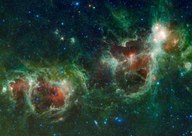 Image of Heart and Soul nebulae