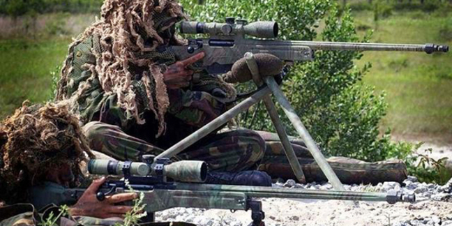 British snipers practice with L115A3 rifles. Credit: MoD