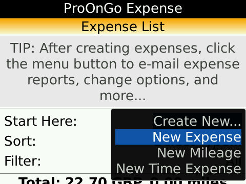 ProOnGo Expense