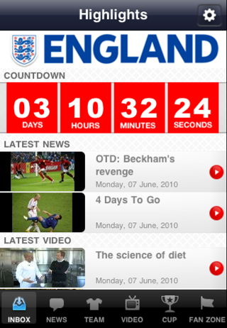 The Official England App