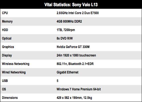 Sony Vaio L13