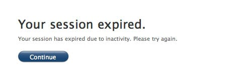 Apple online store error message