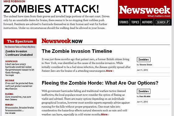 Newsweek Zombies