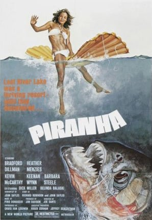 The poster for the film Piranha