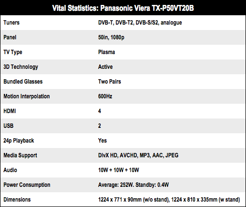 Panasonic Viera TX-P50VT20B