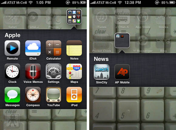 iOS 4 multitasking interface