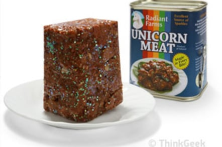 ThinkGeek's canned unicorn meat