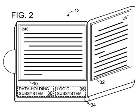 Microsoft 'Virtual Page Turn' patent-application illustration