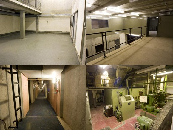 Views of the bunker