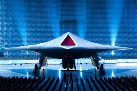 The Taranis robojet at its rollout ceremony. Credit: Crown Copyright