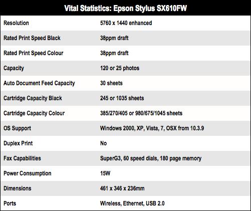 Epson Stylus SX610FW