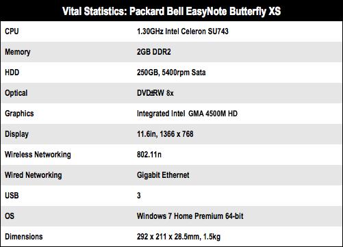 Packard Bell Easynote Butterfly XS