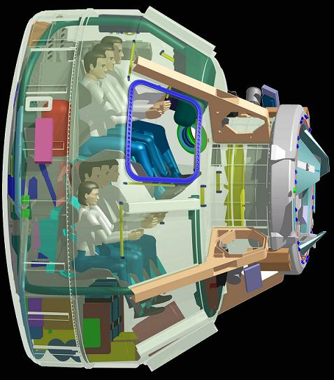 Boeing concept of the proposed CST-100 commercial crew capsule