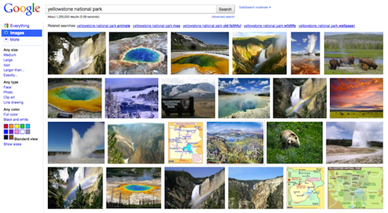 Revamped Google Images