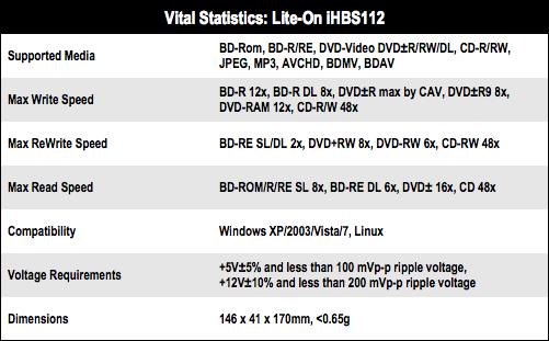 Lite-On iHBS112