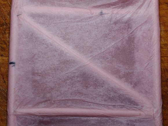 The dried three layers of tissue paper