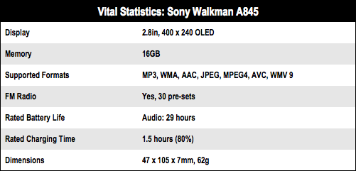 Sony Walkman NWZ-A845