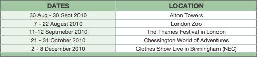 Kinect Tour Dates