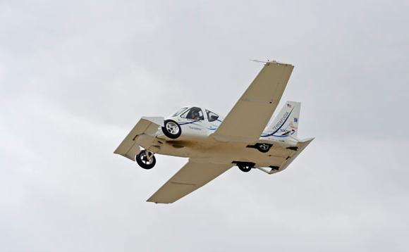 The Transition proof-of-concept prototype in flight tests. Credit: Terrafugia