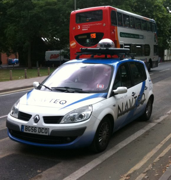 Navteq vehicle in Oxford