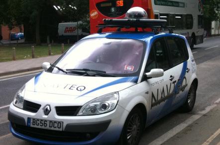 Navteq vehicle in Oxford